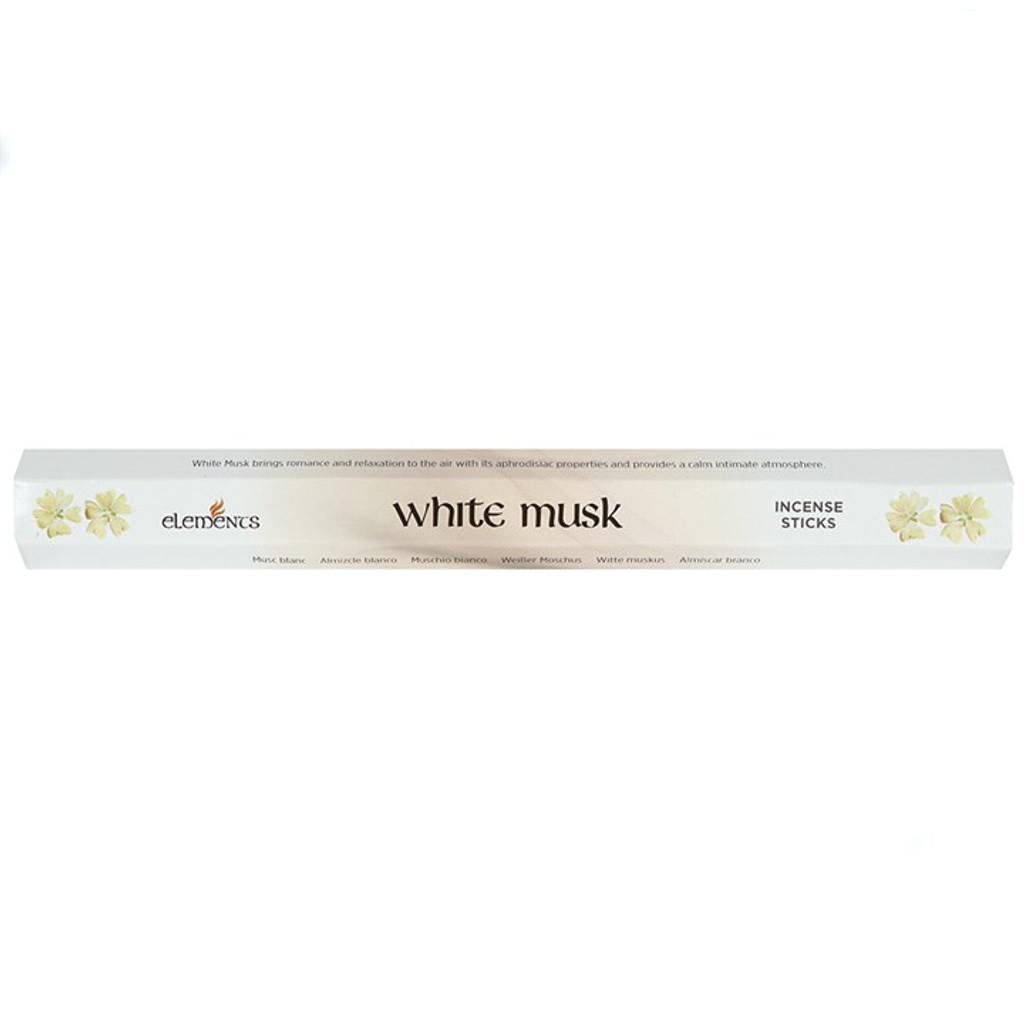White Musk Incense Sticks for Home Fragrance x 20