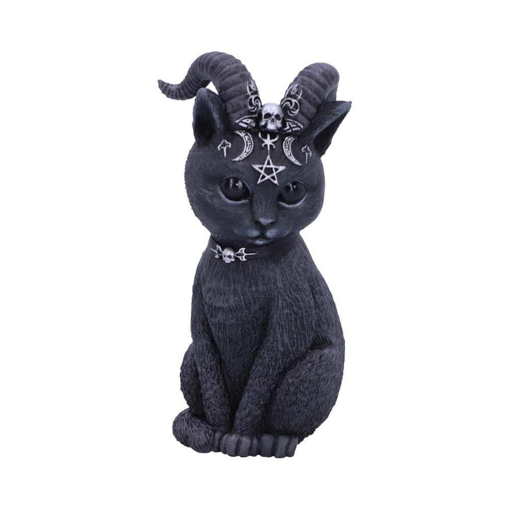 Small Pawzuph Horned Black Cat Figurine