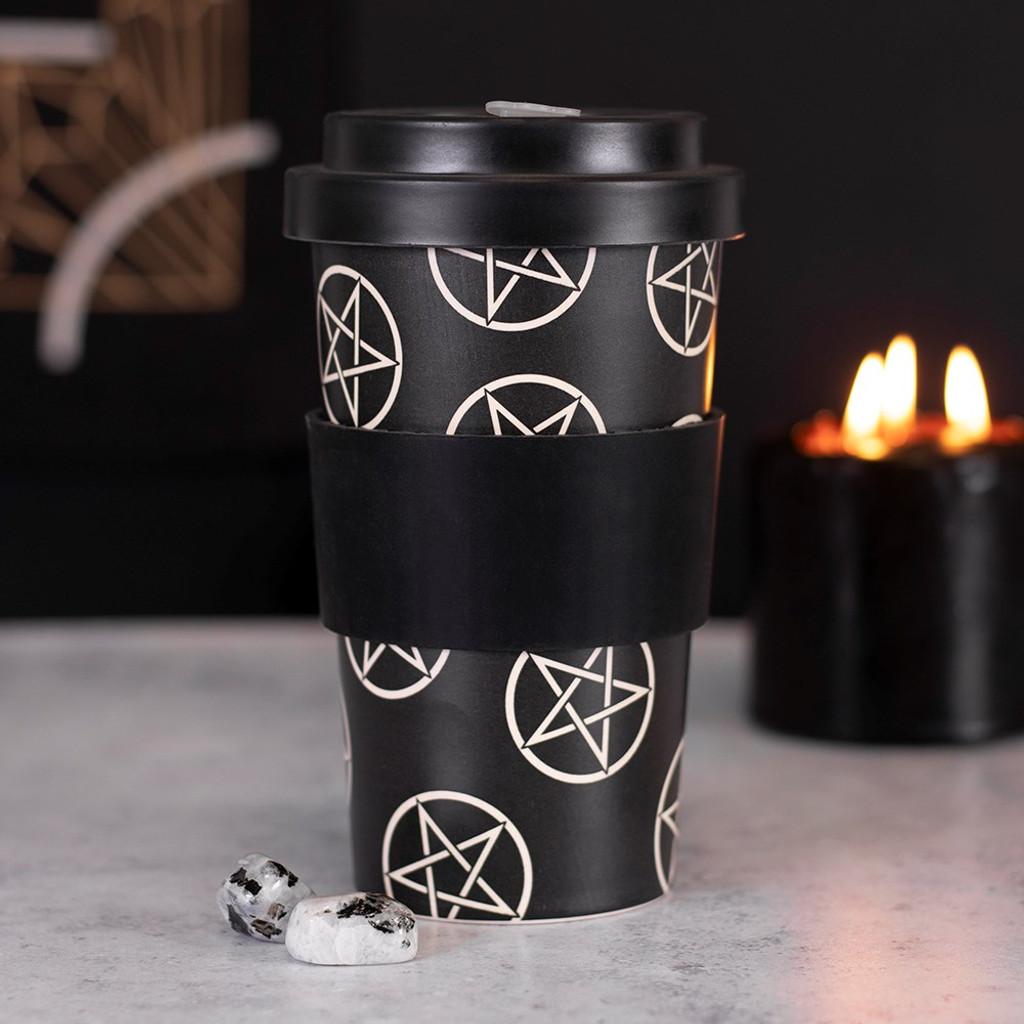 BAMBOO ECO TRAVEL MUG - Pentagram