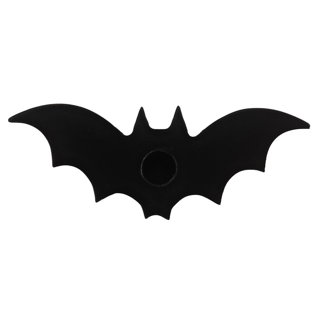 Black and White Bat Shaped Candle Holder