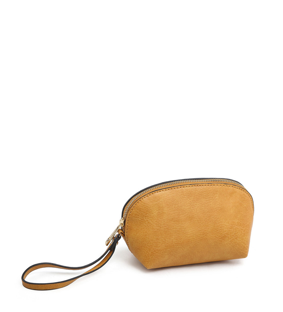 3 Piece Handbag Set with Detachable Shoulder Strap - Navy