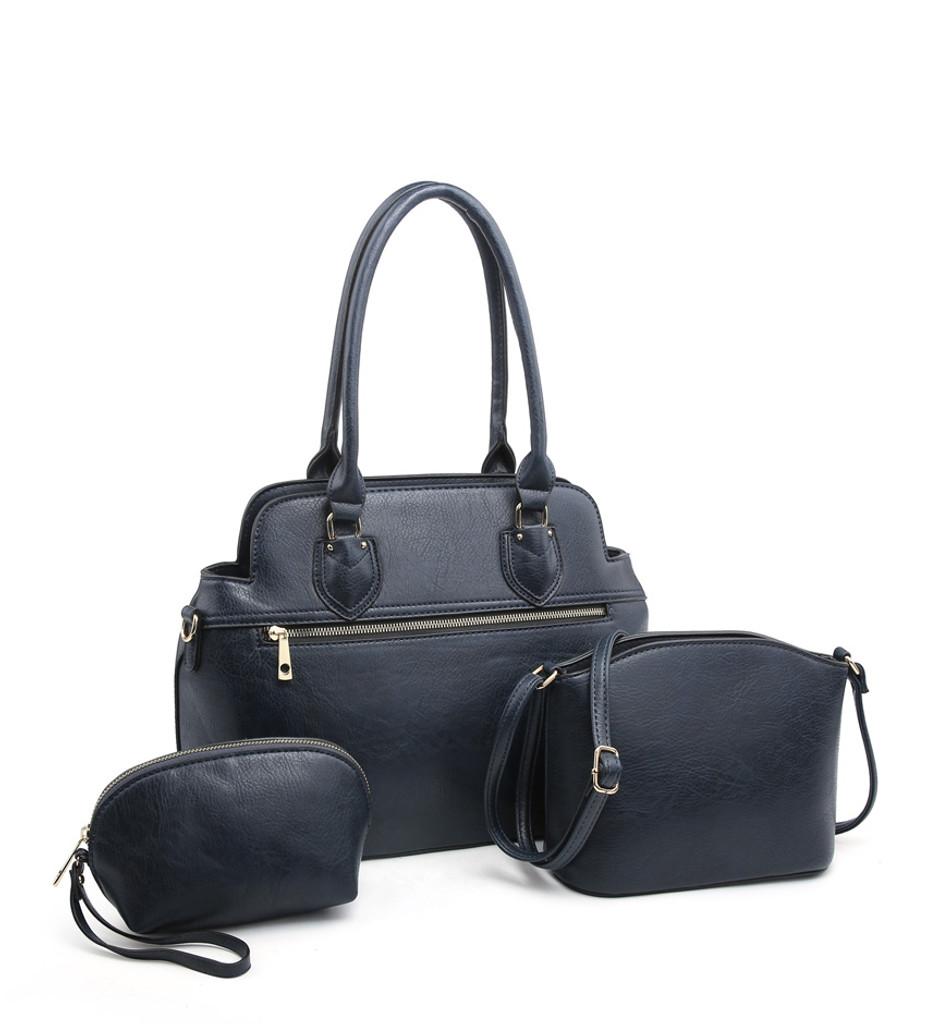3 Piece Handbag Set with Detachable Shoulder Strap