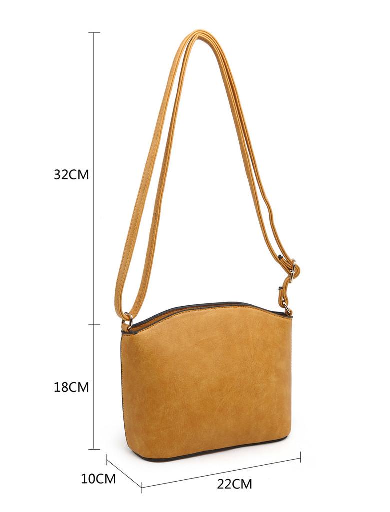3 Piece Handbag Set with Detachable Shoulder Strap - Red