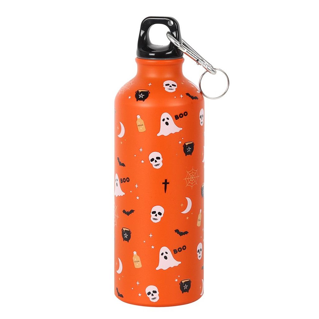 500ml Metal Water Bottle with Cute Spooky Bat Wings Potion Illustration