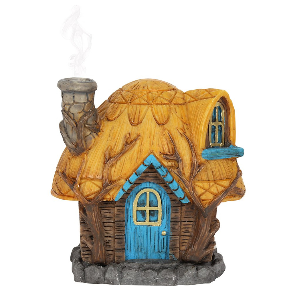 BUTTERCUP COTTAGE FAIRY HOUSE INCENSE CONE BURNER BY LISA PARKER