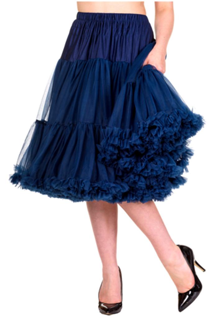 "25"" 1950s Soft Multi layered Petticoat - Navy"