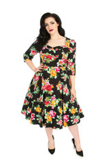 Hearts and Roses Dress at Cerys' Closet Floral Full circle