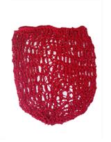 1940s Crochet Hair Snood Hair Net - Red
