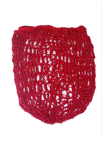 1940s Crochet Hair Snood Hair Net - Red