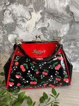 50s Rockabilly Style Cherry Print Handbag