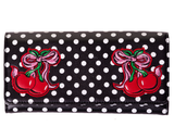 Lucille Polka Dot and Cherry Embroidered Wallet