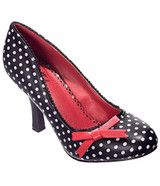 Black and White Vintage Inspired Polk Dot High Heel Stiletto Shoes