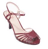 Dancing Days Amelia 1940s Retro Sandals - Bordeaux