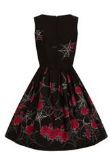SALE - Hell Bunny Sabrina Cobweb Dress