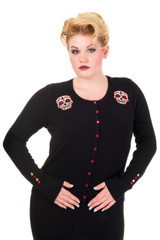 Candy Skull Cardigan - Red