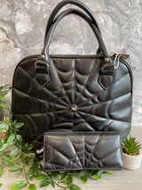 Cobweb Embellished Purse and bag set