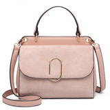 Suede Effect Tote Bag - Pink