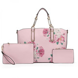 Rose Printed 3 Piece Set - Pink
