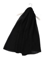 Plain Crinkle Scarf - Black