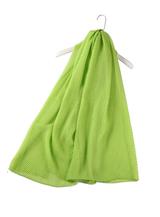 Plain Crinkle Scarf - Green