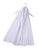 Plain Crinkle Scarf - White