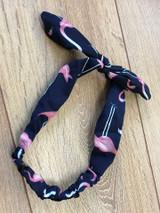 Flamingo Hairband - Navy