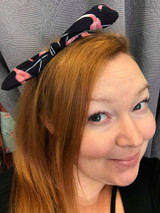 Flamingo Hairband - Navy