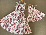 Girls Vintage Dress - Shimmer Rose