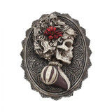 Wall Mountable or Freestanding Day of the Dead Skull Cameo Plaque - Female