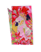 Cockatoo and Floral Satin Scarf by Powder