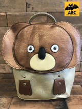Leather Koala Backpack Gold and Brown Cerys' Closet