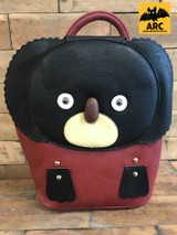 Leather Koala Backpack Maroon and Brown Cerys' Closet