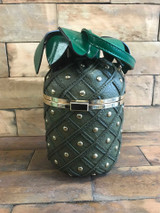 Quirky and Cute 3d Riveted Pineapple Handbag, Dark Green, Cerys' Closet