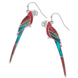 Paua Shell Maccaw Parrot Earrings