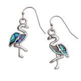 Flamingo Earring Set Paua Abalone Shell