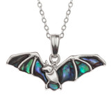 Paua Shell Bat Necklace Abalone Shell