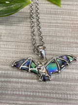 Paua Shell Bat Necklace