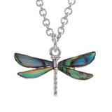 Dragonfly Necklace Paua Shell Abalone Shell