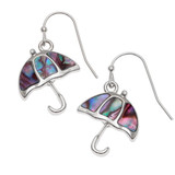 Paua Shell Pink Umbrella Necklace and Earring Set