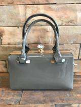 Patent Grey Handbag
