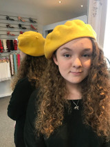Felt Beret - Bright Yellow