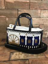 Boat shaped handbag