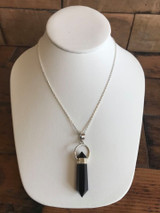 Crystal Pendant Necklace - Onyx