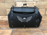 Large Winged Skull Handbag