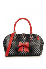 Polka Dot and Bow Handbag