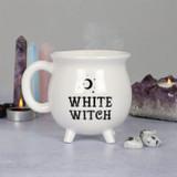 Cauldron White Witch Mug