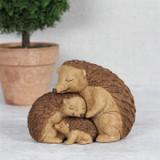 Hedgehog Family Hugs Ornament
