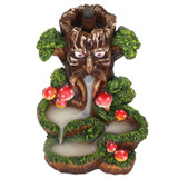 Backflow Incense Burner - Tree Man with Beautiful Cascading Landscape and Toadstools