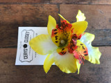 Double Lily Hair Flowers - Yellow