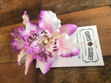 Double Lily Hair Flowers - Light Purple